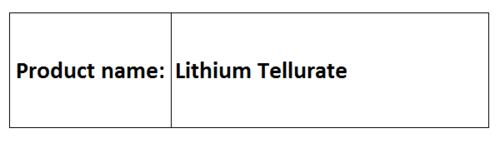 Lithium Tellurate