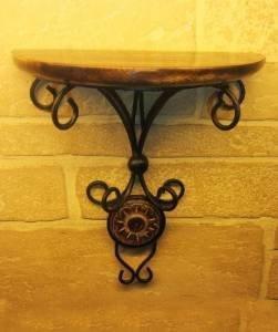 Desi Karigar (Heavy Iron)Beautiful wood & wrought iron Fancy wall bracket