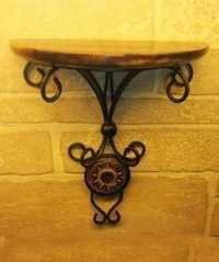 Desi Karigar (Heavy Iron)Beautiful wood & wrought iron Fancy wall bracket