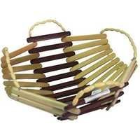Desi Karigar Wooden Bamboo Fruit & Vegetable Basket With Handle Buy 1 Get 1 Free