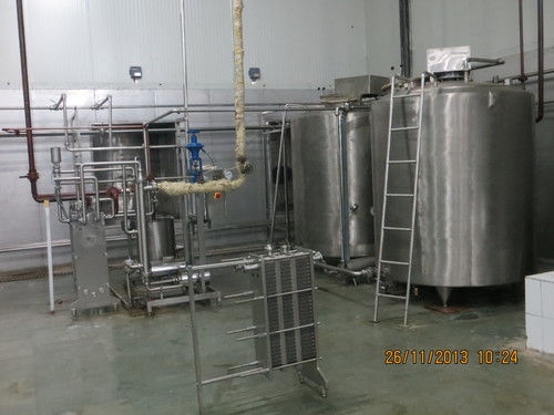 Cream Pasteurizer with storage tank