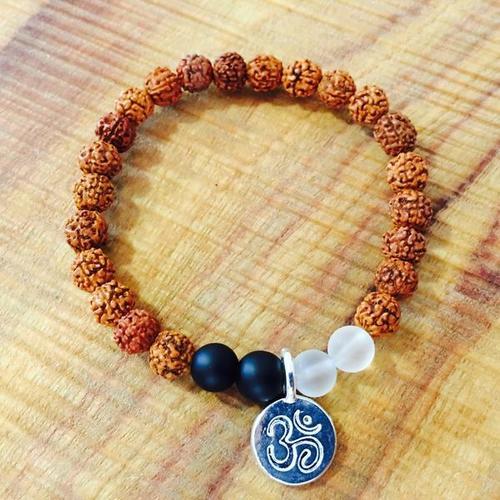 Rudraksha With Silver Bracelets