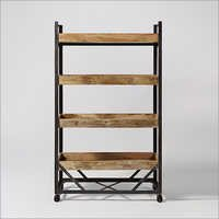 Antique Bookshelf Trolley