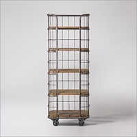 industrial Bookshelf Trolley