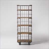 industrial Bookshelf Trolley