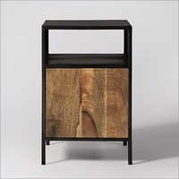 Industrial Bedside with Reclaimed Wood