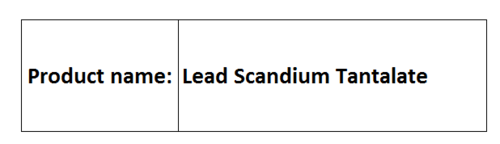 Lead Scandium Tantalate