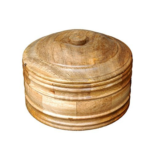 Desi Karigar Wooden Antique Handcrafted Chapati Box