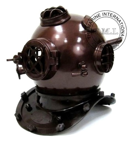 Diving Helmet Mark V - Nautical Diver's Helmet In Dark Copper Antique Finish