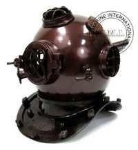 Diving Helmet Mark V - Nautical Diver's Helmet In Dark Copper Antique Finish