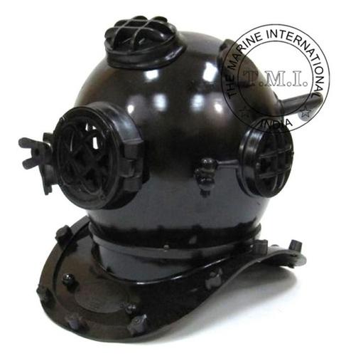 Black Antique Diver's Helmet - Mark V Diving Helmet In Antique Finish