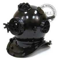 Black Antique Diver's Helmet - Mark V Diving Helmet In Antique Finish