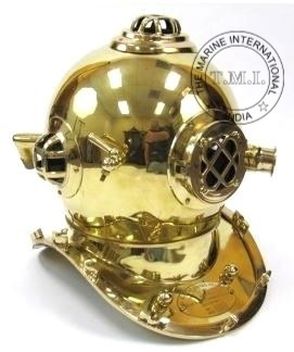 U.S Navy Mark IV Diver's Helmet - Nautical Deep Diving Helmet