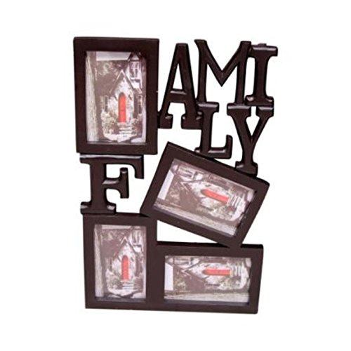 Desi Karigar Wooden and Antique Wall Hanging Family Photo Frame 4 in 1