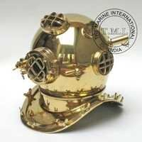 Brass Diving Helmet Mark V - U.S Navy Diner's Helmet