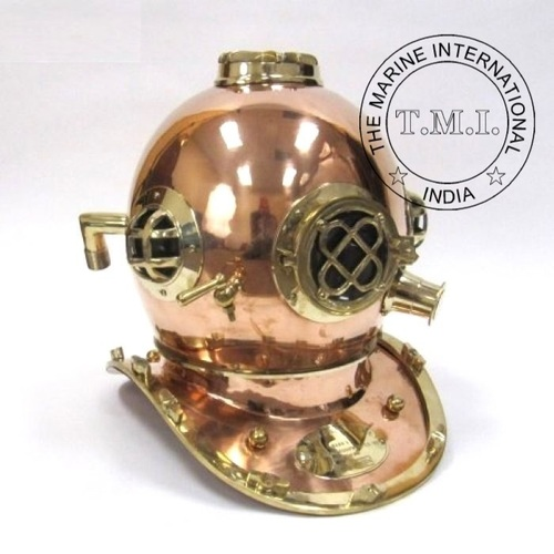 Copper and Brass Diver's Helmet Mark IV Special Edition