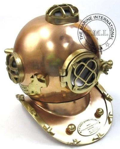 Copper Antique Diver's Helmet Mark V - Nautical Diving Helmet