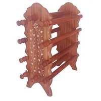 Desi Karigar Wooden Bangle Stand ( Brown )