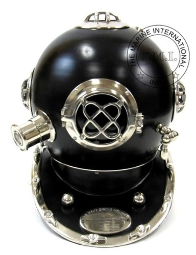 Diving Helmet Mark IV In Black & Chrome Finish