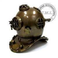 Antique Finish Nautical Diving Helmet Mark V