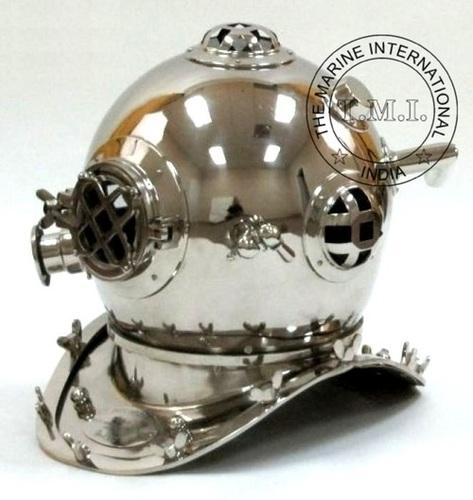 Chrome Diving Helmet Mark IV