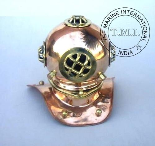 Copper & Brass Diving Helmet - Table Decor Helmet