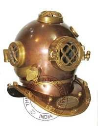 Copper & Brass Antique Mark V Diving Helmet