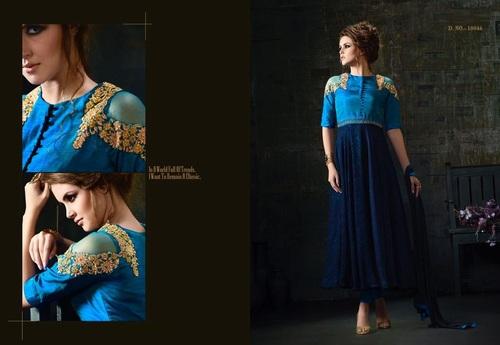 Shop Designer Silk Anarkali Suit Online