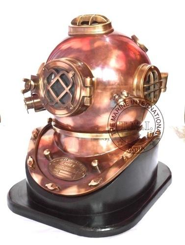 Vintage Look Antique Copper & Brass Diving Helmet