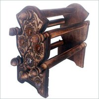 Desi Karigar Wooden Bangle Stand ( Black )