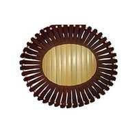 Desi Karigar Wooden Fruit Basket ( Brown, 10 Inch )