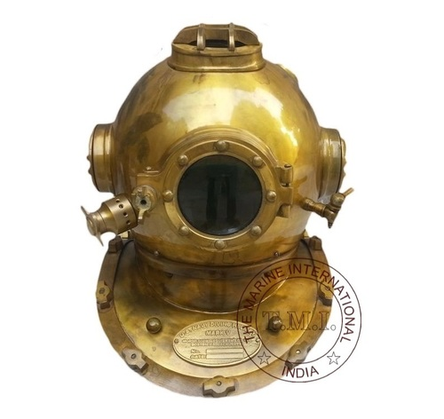Antique U.S Navy Mark V Diving Helmet