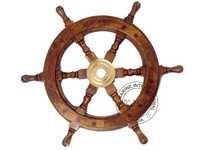Nautical Wooden Ship Wheel