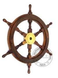 Wooden Decorative Ship Wheel