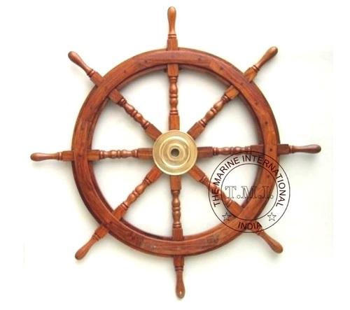 Nautical Wooden Decorative Ship Wheel