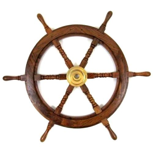 Wooden Craft Ship Wheel