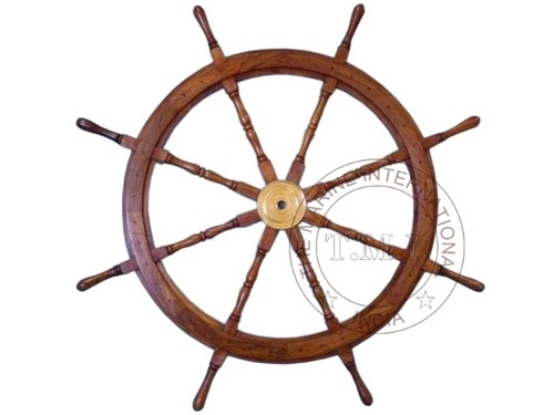 Collectible Wooden Ship Steering Wheel