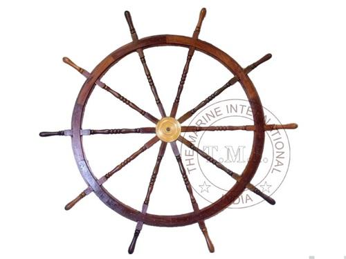 Collectible Wooden Nautical Ship Wheel