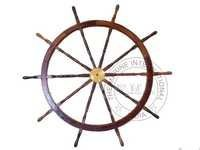 Collectible Wooden Nautical Ship Wheel