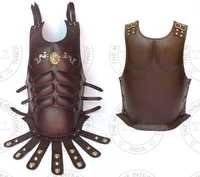 Brown Leather Dragon Emblem Roman Muscle Armour
