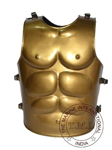Brass Antique Finish Greek Muscle Armour