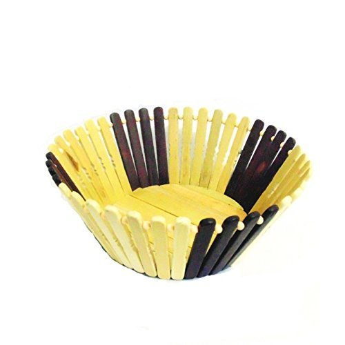 Desi Karigar  Wooden Flower and Fruit Basket Buy 1 Get 1 Free