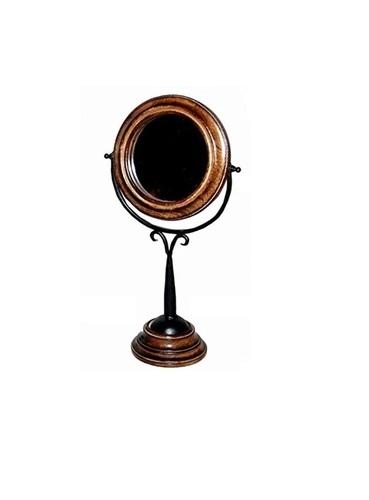 Desi Karigar  Antique Fancy Design Wooden Mirror Frame Size(LxBxH-9x5x17) Inch