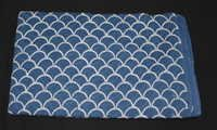 Indian Hand Block Print Fabric 5 Meter Sanganeri Indigo Blue Fabric