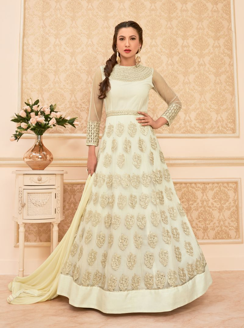 Grey Gauhar Khan Wedding Wear Suit