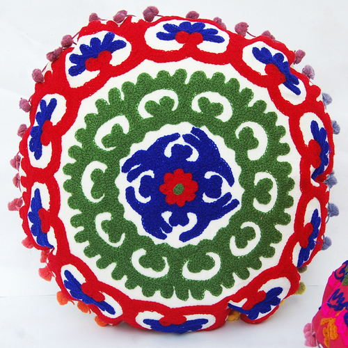 Hand Embroidered Suzani Cushion Cover Pillow Cover Indian Styles