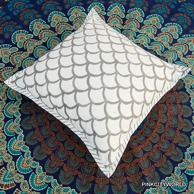 COTTON PILLOW COVER CASE INDIAN COTTON BLOCK PRINTED CANVAS CUSHION COVER