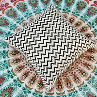 Printed cushion cover Wood block Printed Canvas cushion cover