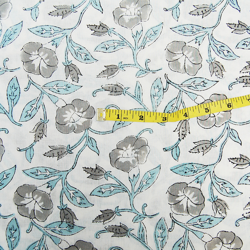 Pure Cotton Sanganeri Hand Block Print Fabric