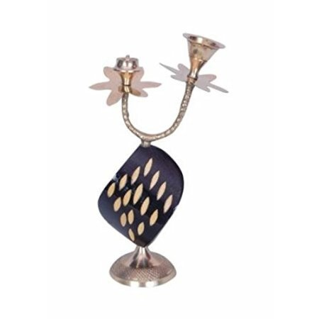 Desi Karigar Beautiful Wooden Antique Incense Holder With Brass Design